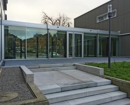 Schulhaus Blumenau Fassade