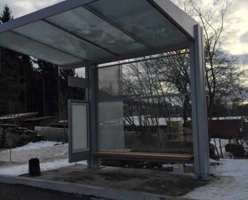 Muster für Bushaltestelle Kanton St.Gallen